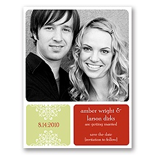 Top Notch - Olive - Save the Date Magnet