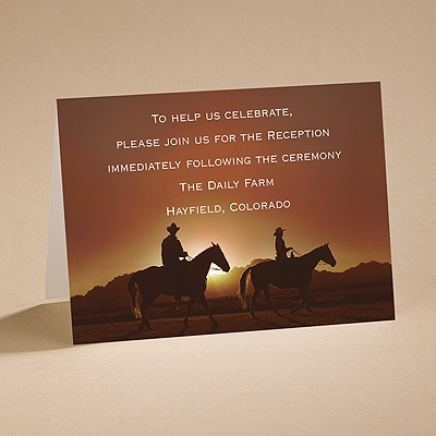 On the Range - Reception Card