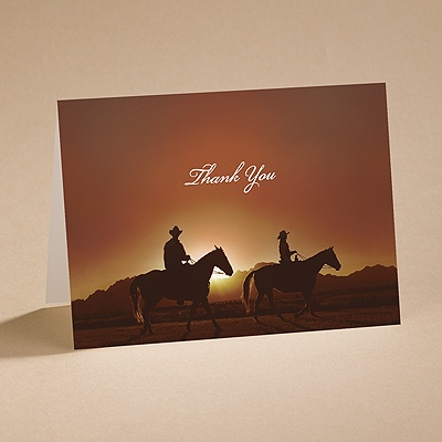 On the Range - Thank You Card with Verse and Envelope