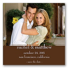 Magnetic Save The Date - Chocolate