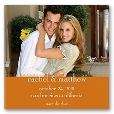 Magnetic Save The Date - Terra Cotta