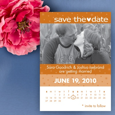 Calendar Save The Date - Terra Cotta