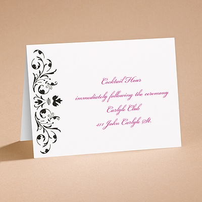 Bow Tie Ebony - Reception Card