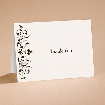 Bow Tie Chocolate - Thank You Card and Envelope