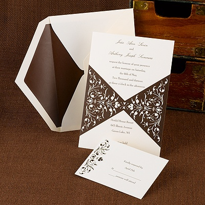 Bow Tie Chocolate - Invitation