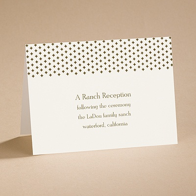 All Buckled Up - Reception Card