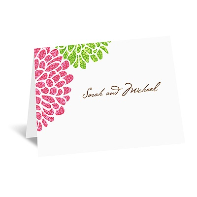 It Takes Two ( Pink and Green) - Note Card and Envelope