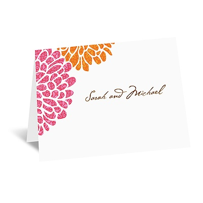 It Takes Two ( Pink and Orange) - Note Card and Envelope