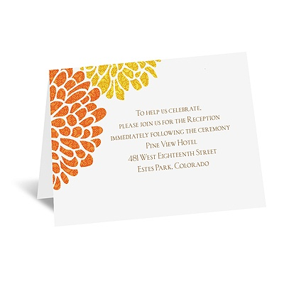 It Takes Two (Orange and Yellow) - Reception Card