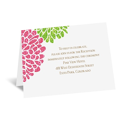 It Takes Two ( Pink and Green) - Reception Card