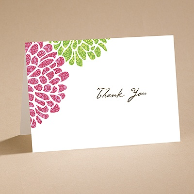 It Takes Two ( Pink and Green) - Thank You Card and Envelope