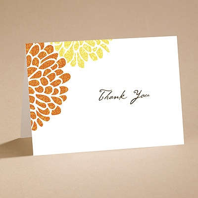 It Takes Two (Orange/Yellow) - Thank You Card With Verse and Envel