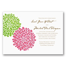 It Takes Two ( Pink and Green) - Invitation