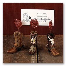 Western Boot Place Card Holder Set