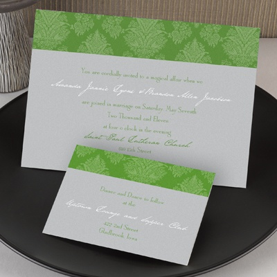Chic Damask - Invitation - Grass