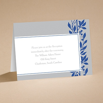 Flower Child Blue - Reception Card