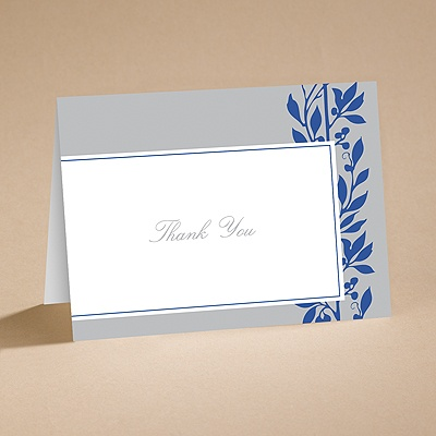Flower Child Blue - Thank You Card With Verse and Envelope