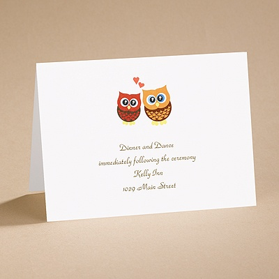 Who's in Love? - Reception Card