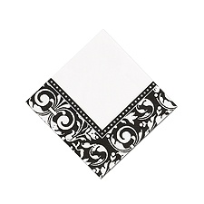 Blank Formal Affair Damask Dinner Napkin