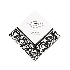 Printed Formal Affair Damask Dinner  Napkin