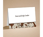 Hunt for Love - Brown Camouflage - Ecru Note Folder and Envelope