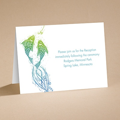 Gone Fishing - Reception Card
