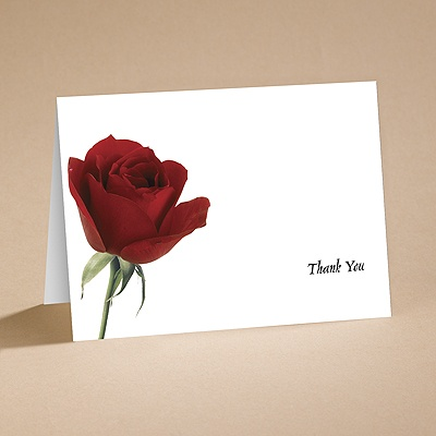 Rose Red - Thank You Folder with Verse and Envelope
