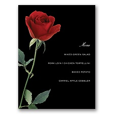 Rose Red - Menu Card