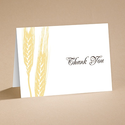 Bountiful Harvest - Thank You Folder with Verse and Envelope