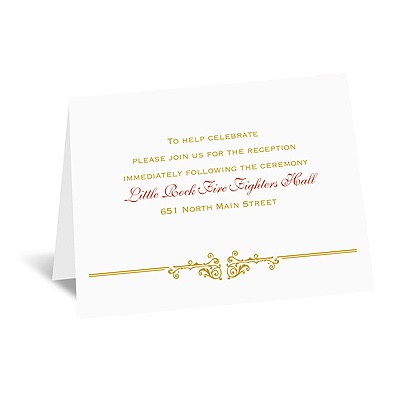 Rescued by Romance - Reception Card