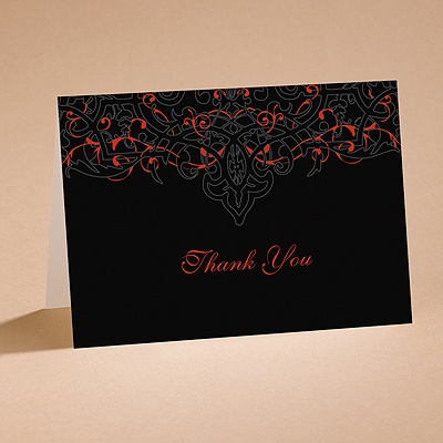 Dramatic Black - Thank You Folder with Verse and Envelope