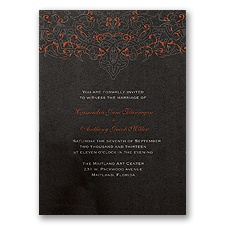 Dramatic Black Invitation