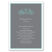 Bicycle Built for Two - Teal Invitation