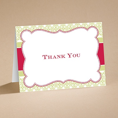 Modern Vintage - Rooster Design - Thank You Folder and Envelope