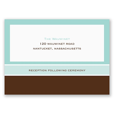 Fashionable Frames - Reception Card