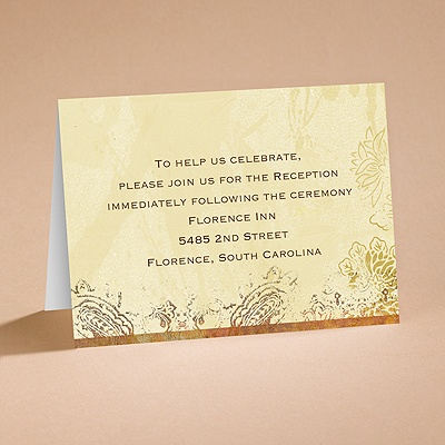 Pretty Paisley - Reception Card
