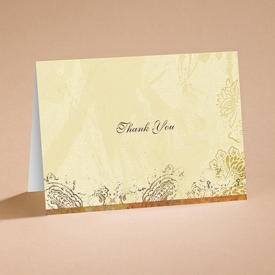 Pretty Paisley - Thank You Card and Envelope