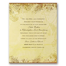 Pretty Paisley - Invitation