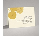 Fall Leaves - Reception Card