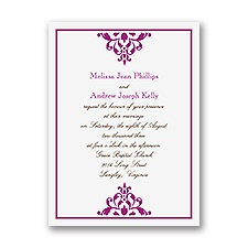 Damask Accents - Petite Invitation