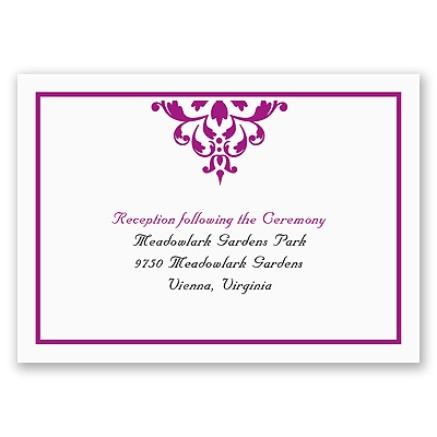 Damask Accents - Reception Card