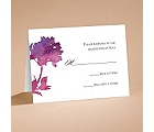 Purple Spring Flowers - Respond Card and Envelope
