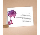 Purple Spring Flowers - Reception Card