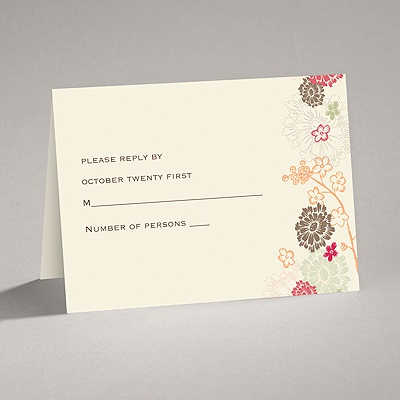 Blossoming Autumn - Response Card and Envelope