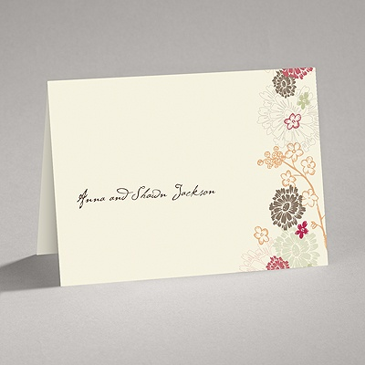 Blossoming Autumn - Thank You Card and Envelope