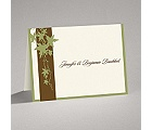 Band of Leaves - Green - Thank You Card and Envelope