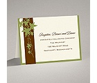 Band of Leaves - Green - Reception Card