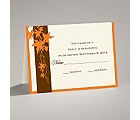 Band of Leaves - Orange - Response Card and Envelope