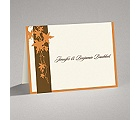 Band of Leaves - Orange - Thank You Card and Envelope