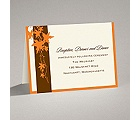 Band of Leaves - Orange - Reception Card